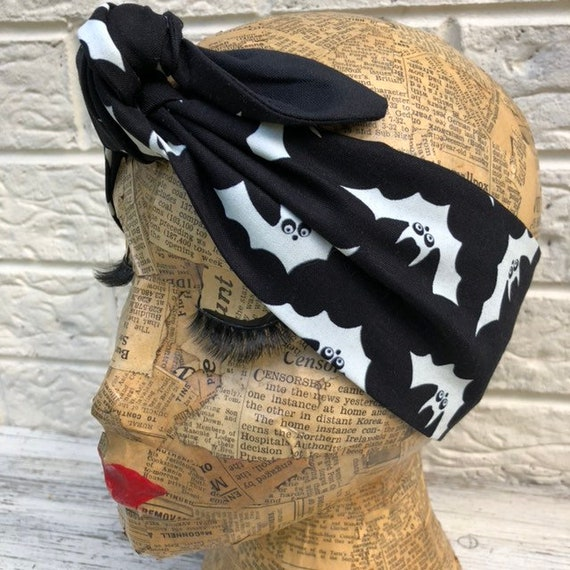 Bats Halloween Headscarf Rockabilly Pinup 1950's Inspired