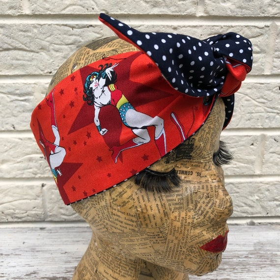 Wonder Woman Headscarf Rockabilly Pinup 1950's Inspired