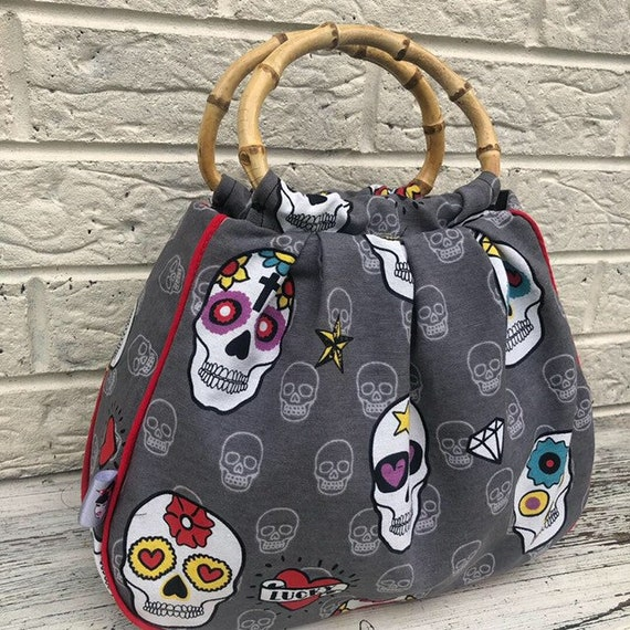 Limited Edition Sugar Skull Handbag Rockabilly Pinup 1950's Inspired