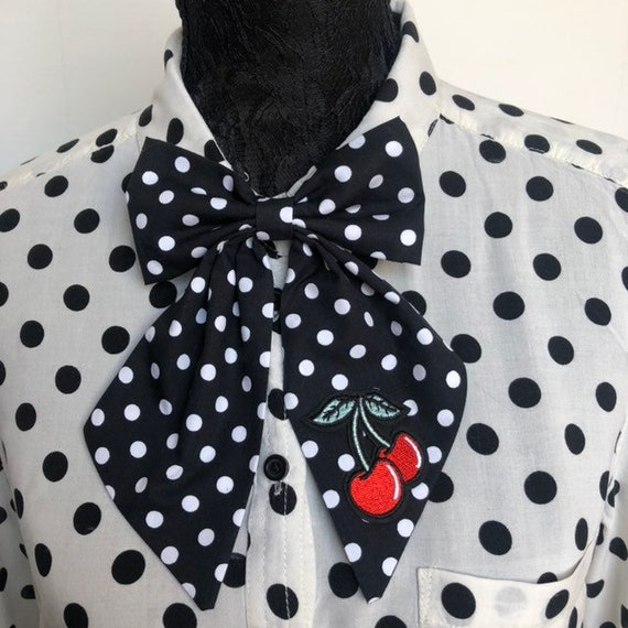 Betty Bow Tie Pin Polka Dot Rockabilly Pinup 1950s Inspired