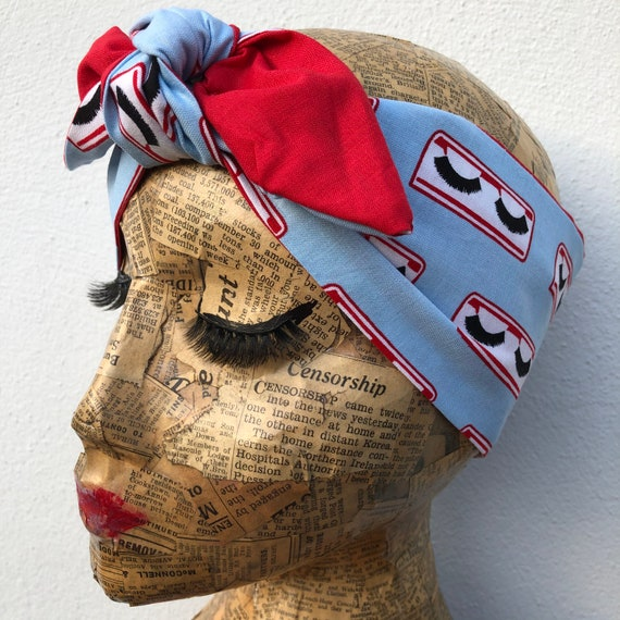 Lashes  Headscarf Rockabilly Pinup 1950's Inspired