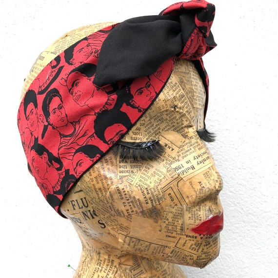 Frida Inspired Headscarf Rockabilly pinup 1950's