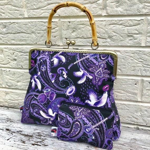Prince Purple Rain Handbag and purse Rockabilly Pinup 1950's Inspired