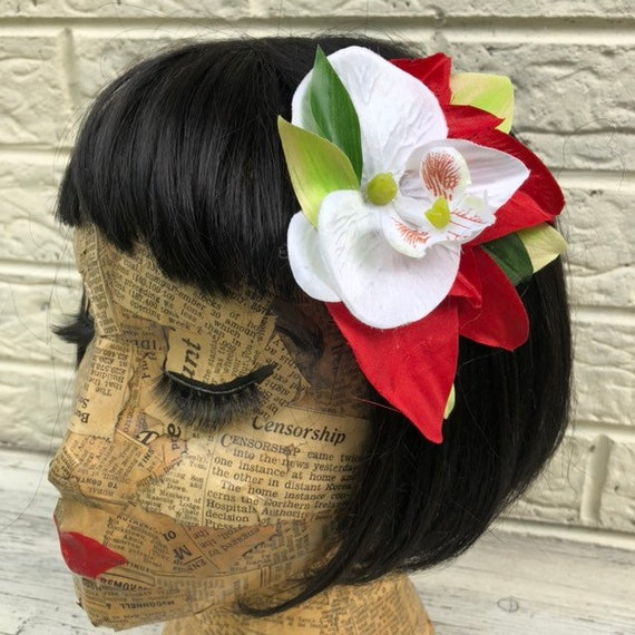Hair Flower Rockabilly Pinup 1950's Inspired