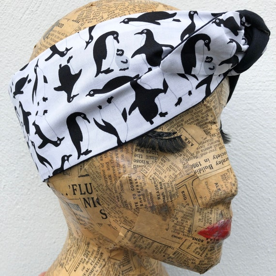 Penguin Headscarf Rockabilly Pinup 1950's Inspired