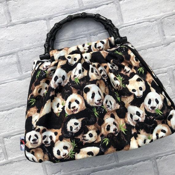Limited Edition panda  Handbag Rockabilly Pinup 1950's Inspired
