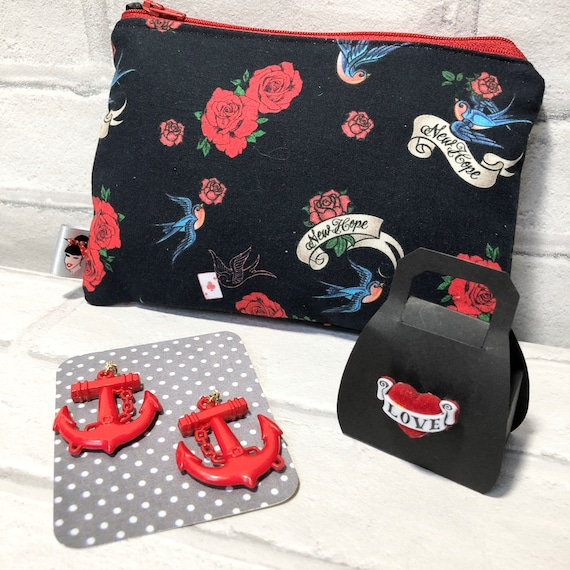 Tattoo Inspired Gift Set Rockabilly Pinup 1950's Inspired