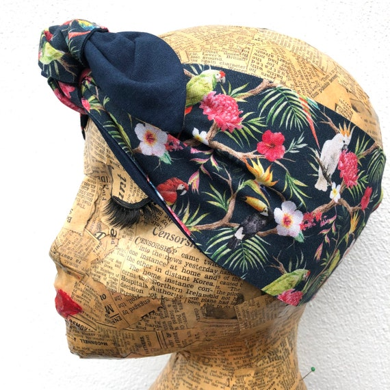 Tropical Headscarf Rockabilly Pinup 1950's Inspired