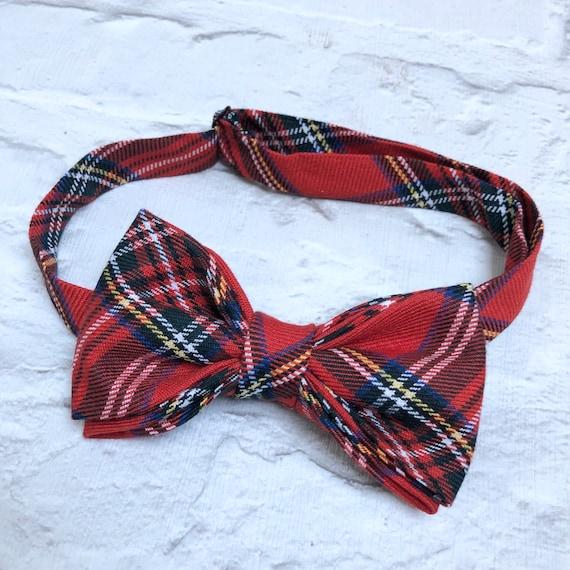 Royal Stewart Tartan Bow Tie Rockabilly