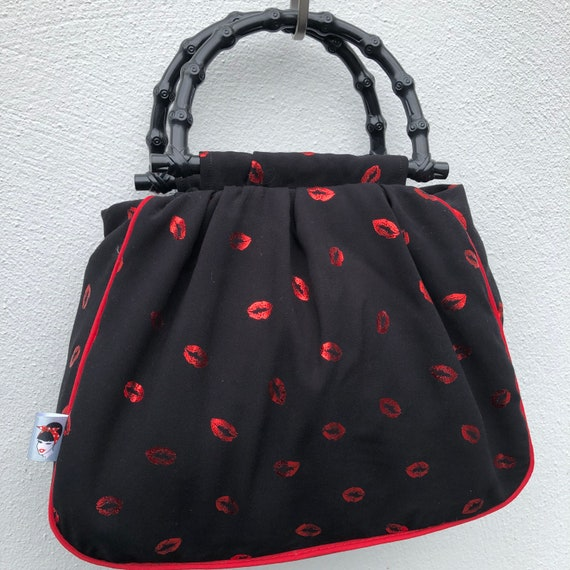 Red Lips Limited Edition Handbag Rockabilly Pinup 1950's Inspired