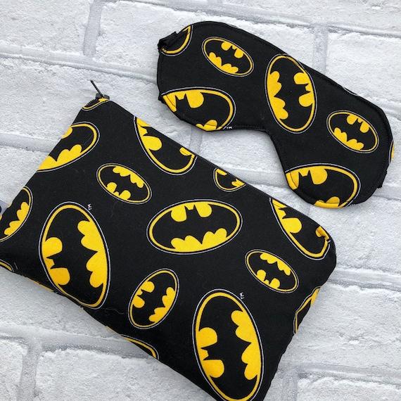 Batman Inspired Makeup Bag and Sleep Mask Gift Set