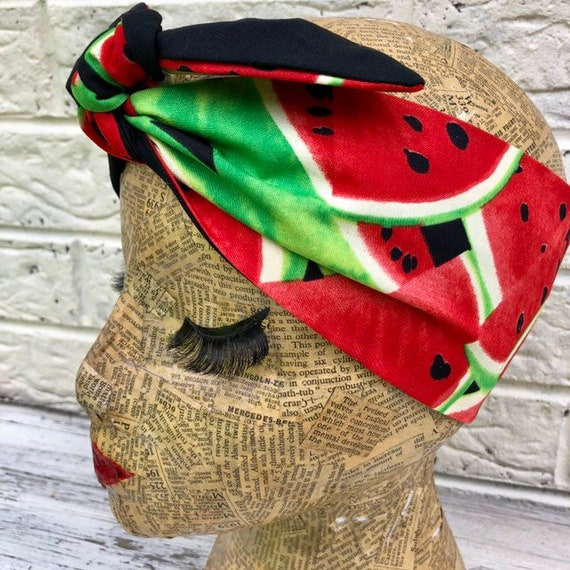 Watermelon Headscarf Rockabilly Pinup 1950's Inspired