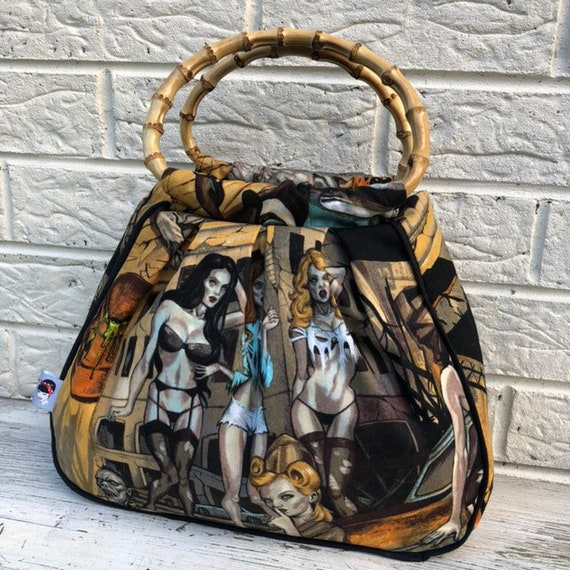 Limited Edition Zombie Pinup Handbag Rockabilly Pinup 1950's Inspired