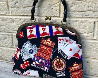 Casino  Handbag Rockabilly Pinup 1950's Inspired