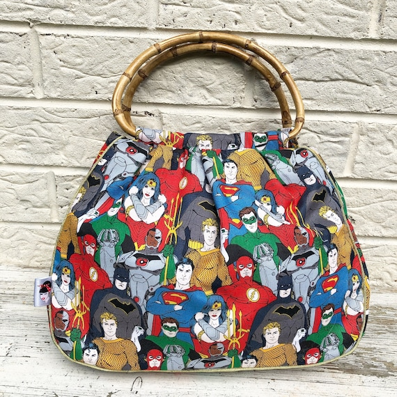 Justice League Handbag Rockabilly Pinup 1950'S Inspired