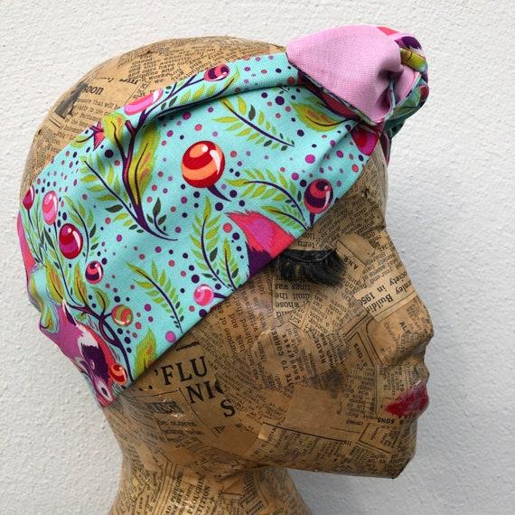 Raccoon Headscarf Rockabilly Pinup 1950s Inspired