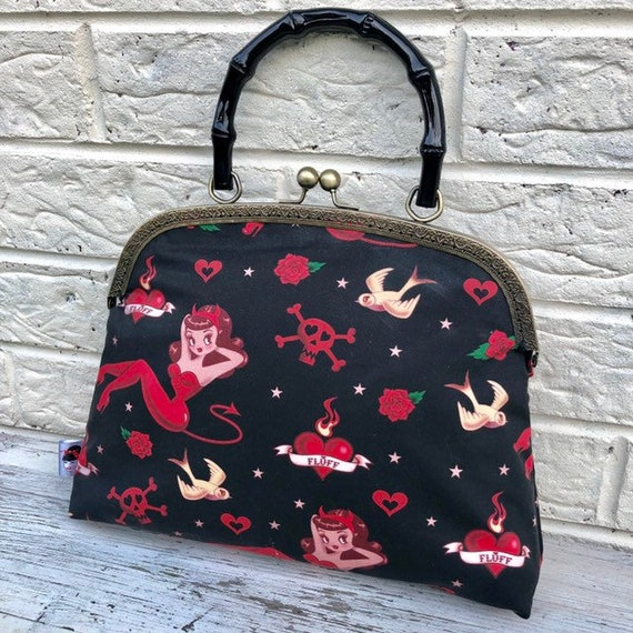 Pinup Girl Handbag Rockabilly Pinup 1950's Inspired