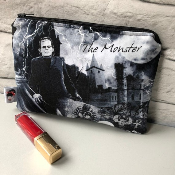 Horror Movie Frankenstein Cosmetic Makeup Bag Retro