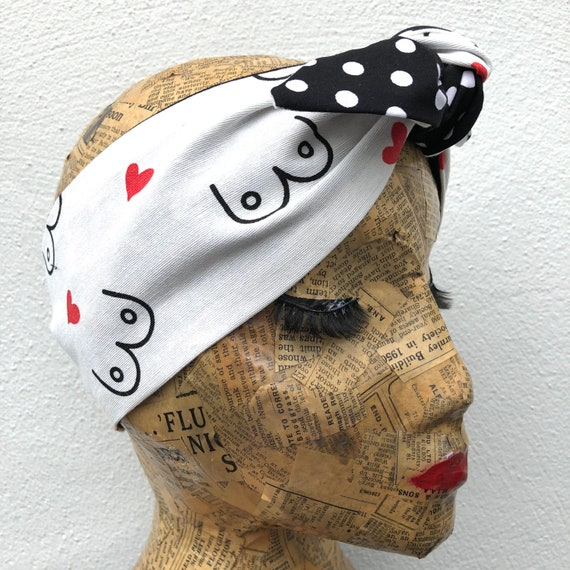 Bewbs Headscarf Rockabilly Pinup 1950's inspired