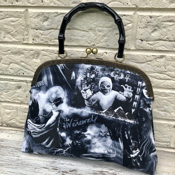 Frankenstein Horror Handbag Rockabilly Pinup 1950's Inspired