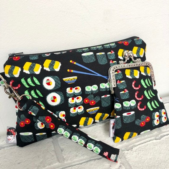 Sushi clutch bag and Purse Rockabilly Pinup 1950's Inspired