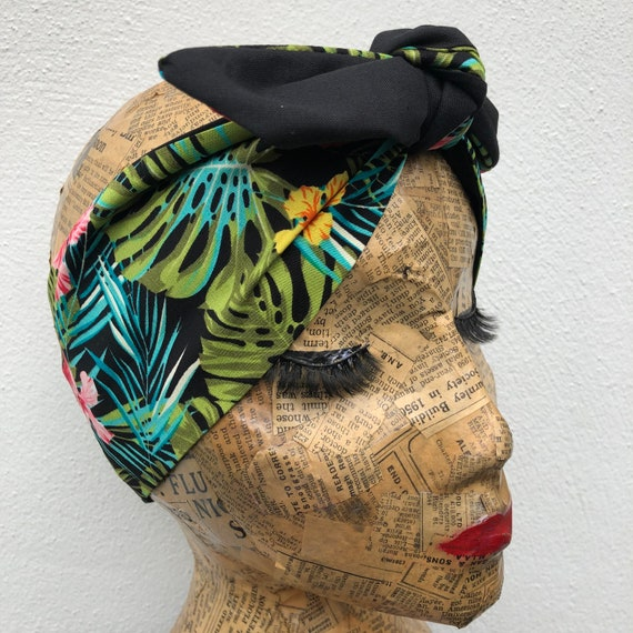 Tropical Tiki headscarf Rockabilly pinup 1950's inspired
