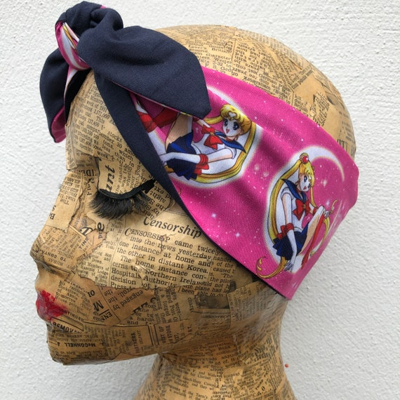 Sailor Moon    Headscarf Rockabilly Pinup 1950's Inspired