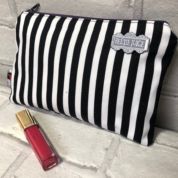 Beetlejuice Inspired Cosmetic bag Rockabilly Pinup 1950's Inspired