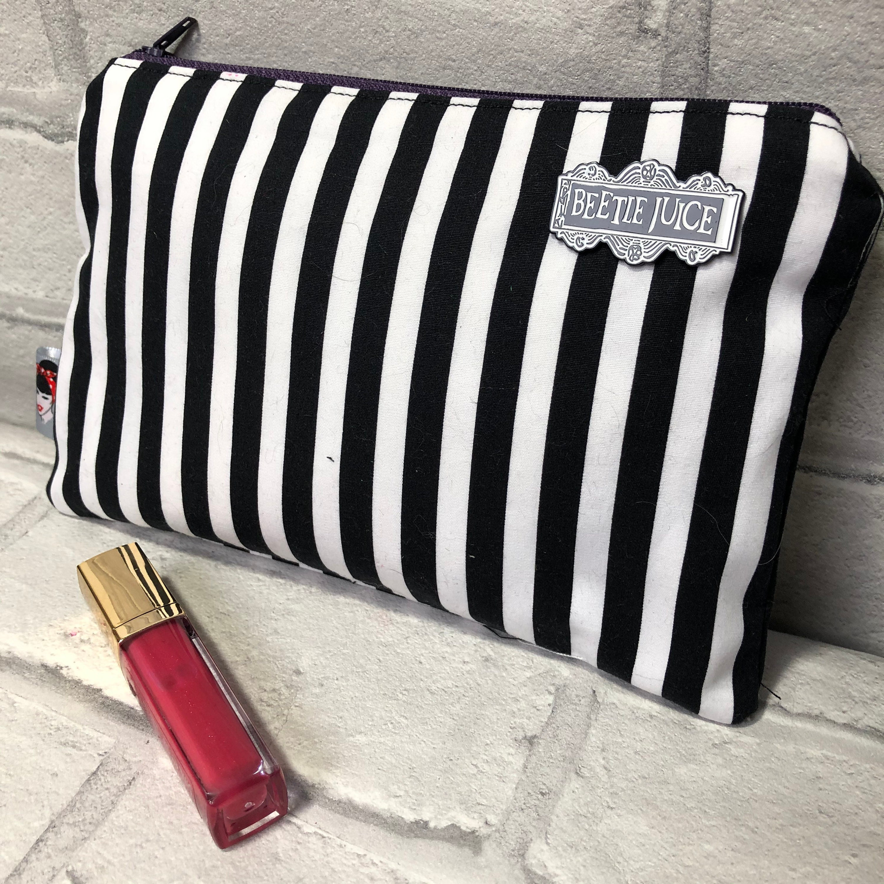 Beetlejuice Inspired Cosmetic bag Rockabilly Pinup 1950's