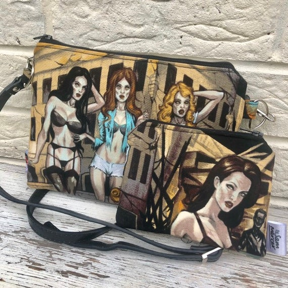 Alexander Henry Zombie Cross Body Bag and Purse Rockabilly Pinup 1950's Inspired