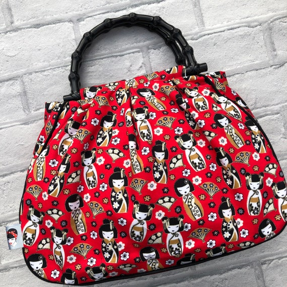 Geisha  Print Handbag Rockabilly Pinup 1950's inspired