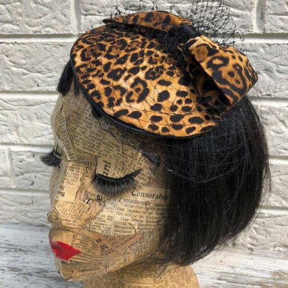 Leopard Print  Fascinator Rockabilly Pinup 1950s Inspired