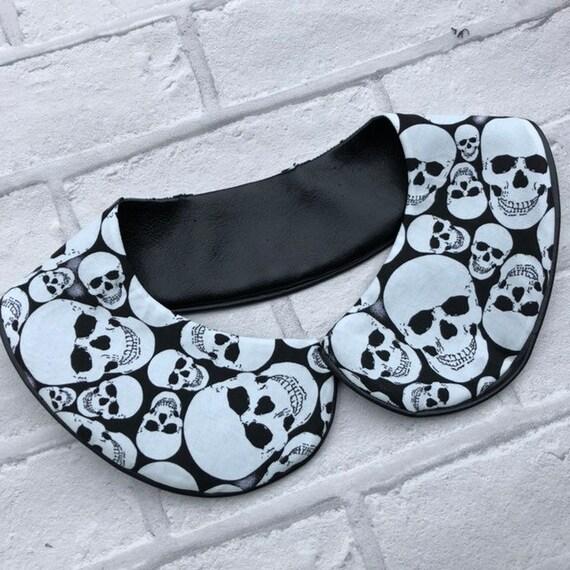 Skulls Peter Pan Collar Rockabilly Pinup 1950's Inspired