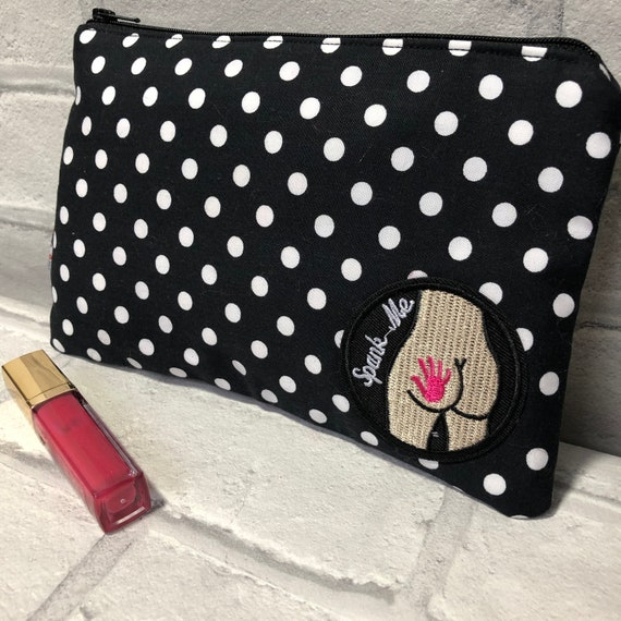 Spank Me Cosmetic Bag Rockabilly Pinup 1950's Inspired
