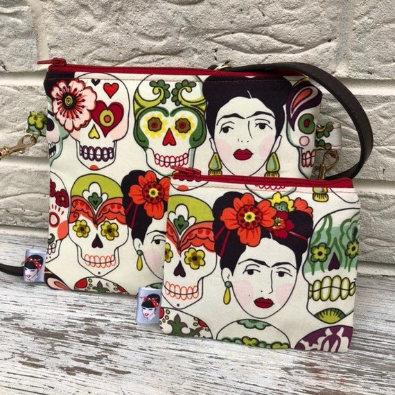 Frida Cross Body Bag and Purse Rockabilly Pinup 1950's Inspired