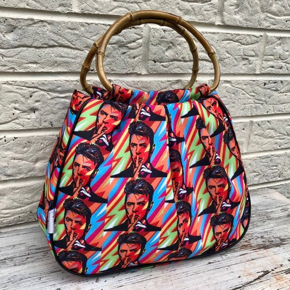 Limited Edition David Bowie  Pinup Handbag Rockabilly Pinup 1950's Inspired