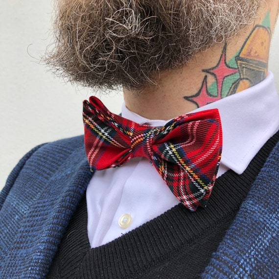 Royal Stewart Tartan Bow Tie Rockabilly