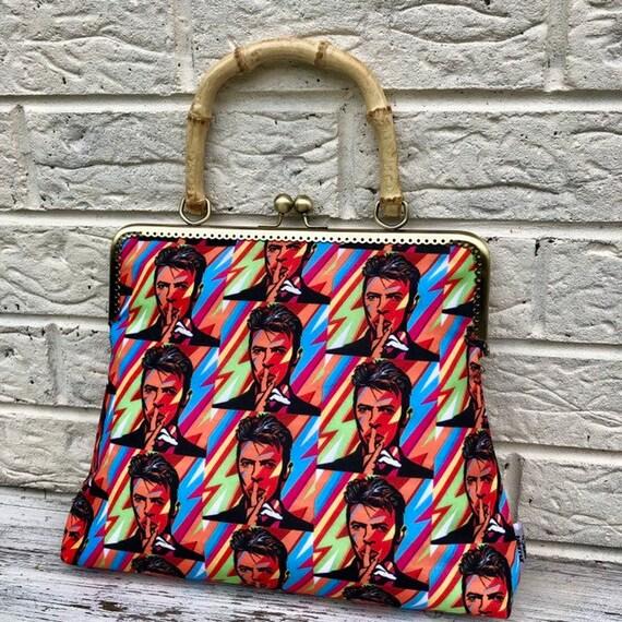 David Bowie  Handbag Rockabilly Pinup 1950's Inspired