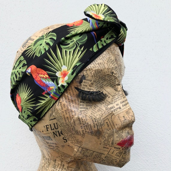 Parrot headscarf Rockabilly pinup 1950's inspired