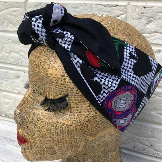 Casino Slot Machine Headscarf Rockabilly Pinup 50's inspired