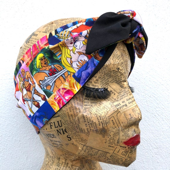 Limited Edition Reversible Masters Of The Universe   Headscarf Rockabilly Pinup 1950's Inspired