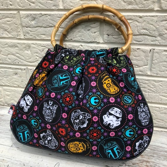 Star Wars Bamboo Handle Bag with Torch and Storage Compartment Rockabilly Pinup Inspired