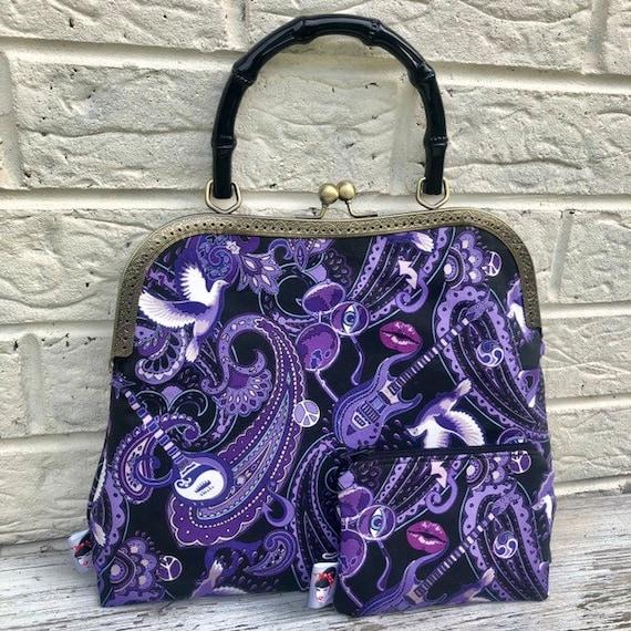 Prince Purple Rain Handbag and purse Rockabilly Pinup 1950's Inspired