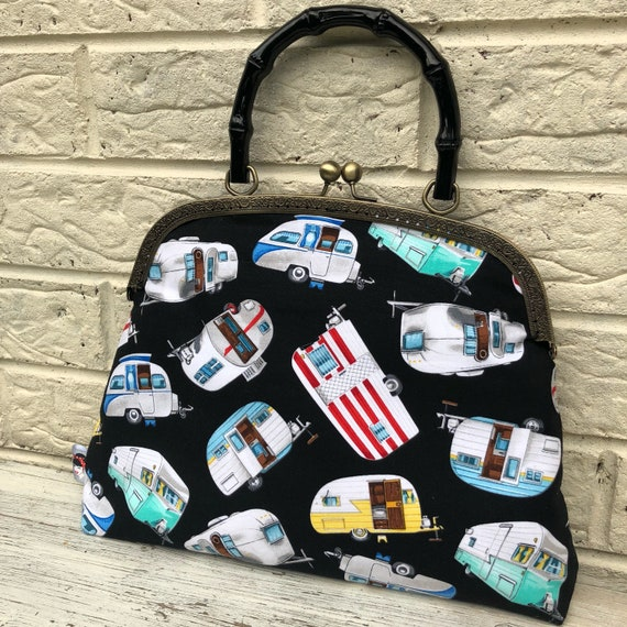 SALE - Caravan Handbag Rockabilly Pinup 1950's Inspired