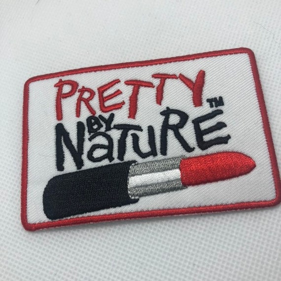 Pretty By Nature Iron On Patch Rockabilly Pinup Inspired