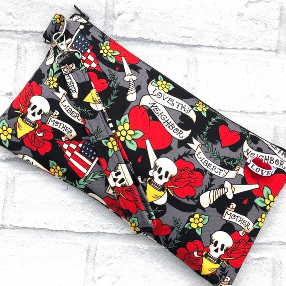 Tattoo Inspired Clutch Bag Rockabilly Pinup 1950's