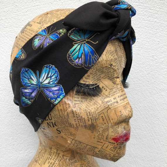 Butterfly Headscarf  Rockabilly Pinup 1950's Inspired