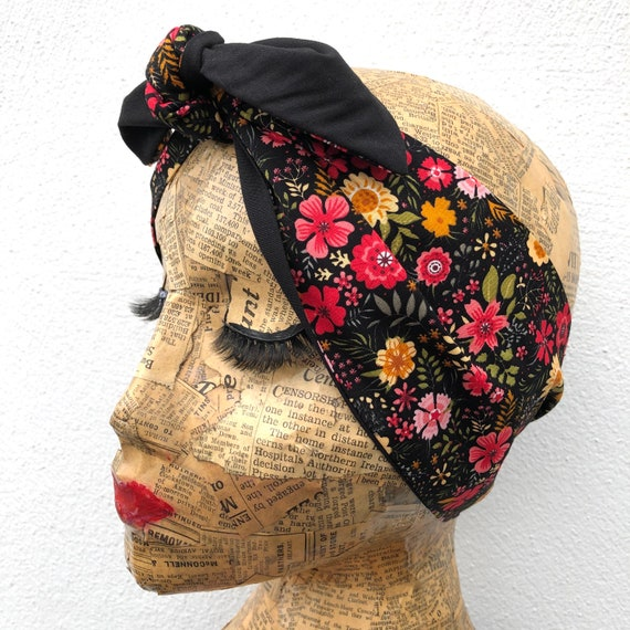 Ditsy Floral Headscarf Rockabilly Pinup 1950's Inspired