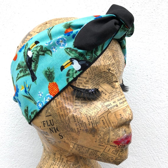 Toucan Headscarf Rockabilly Pinup 1950's Inspired
