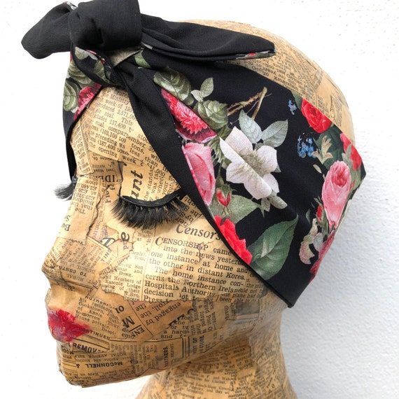 Floral  Headscarf Rockabilly Pinup 1950's Inspired